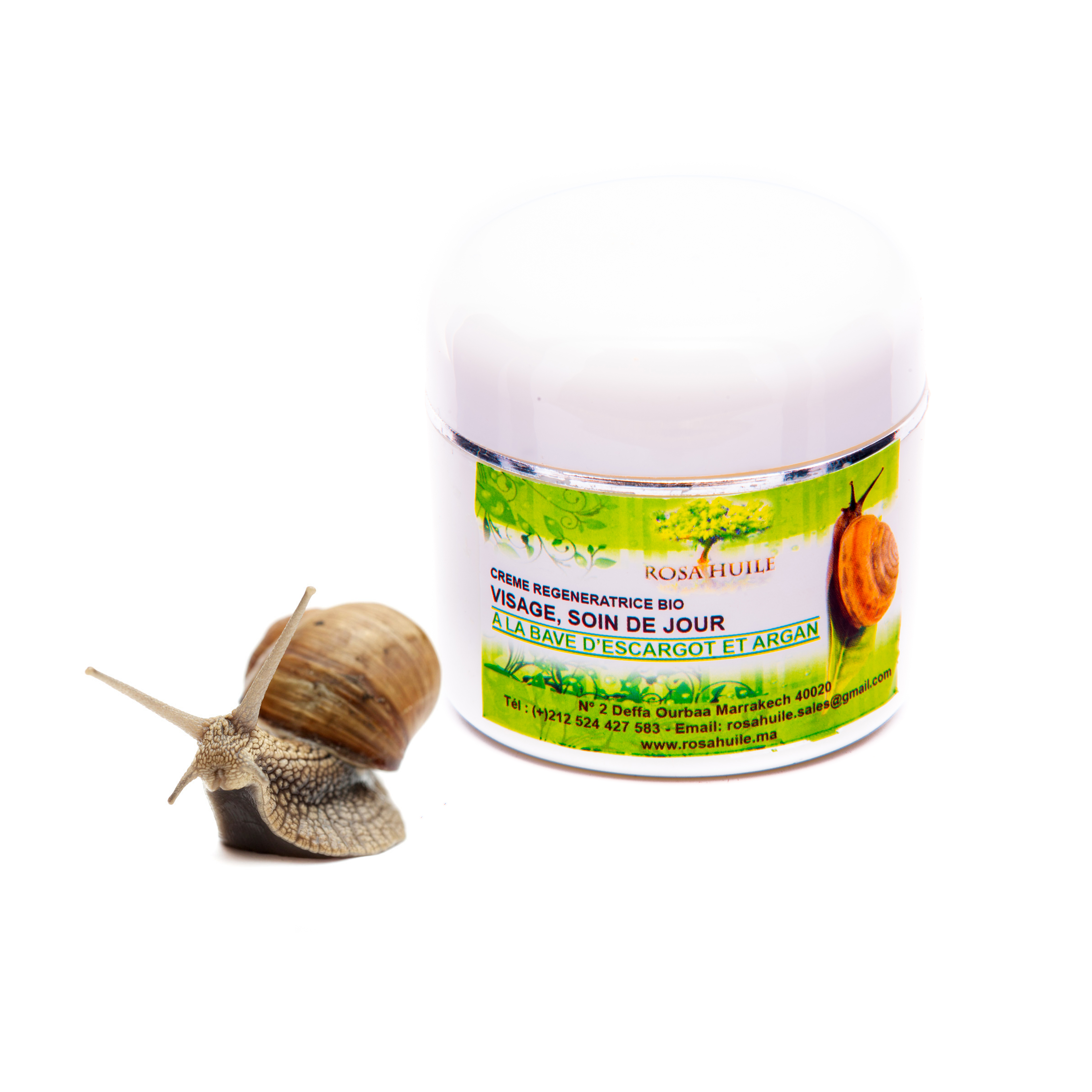 Cream of Argan With Slime Snail - RosaHuile